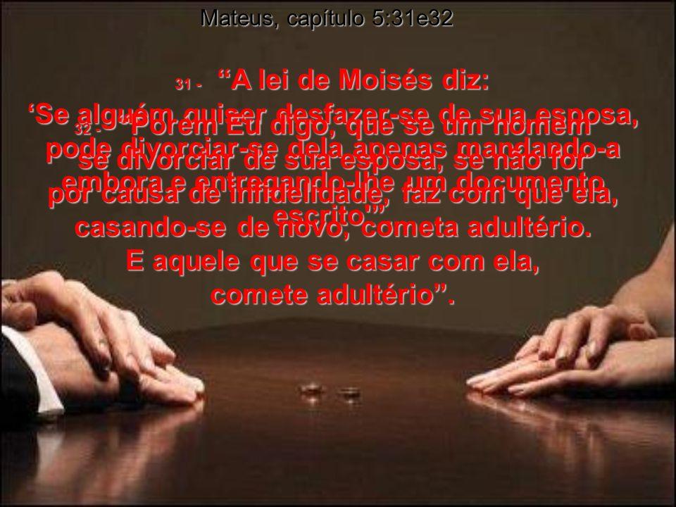 1 Coríntios, capítulo 7 39 - A esposa é parte do marido enquanto este viver; se o esposo morrer, ela então poderá casar-se novamente, mas somente se c