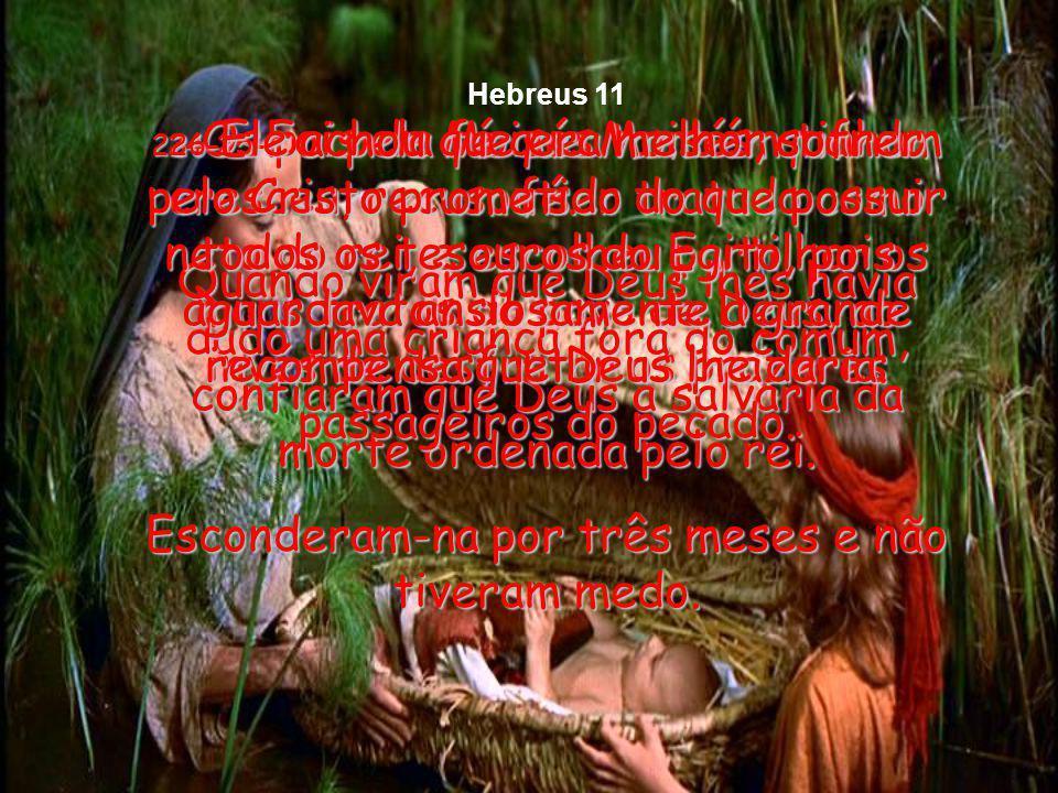 21-Pela fé, Jacó, quando já estava velho e para morrer, abençoou cada um dos dois filhos de José e, levantando-se, orou encurvado sobre a ponta do bor