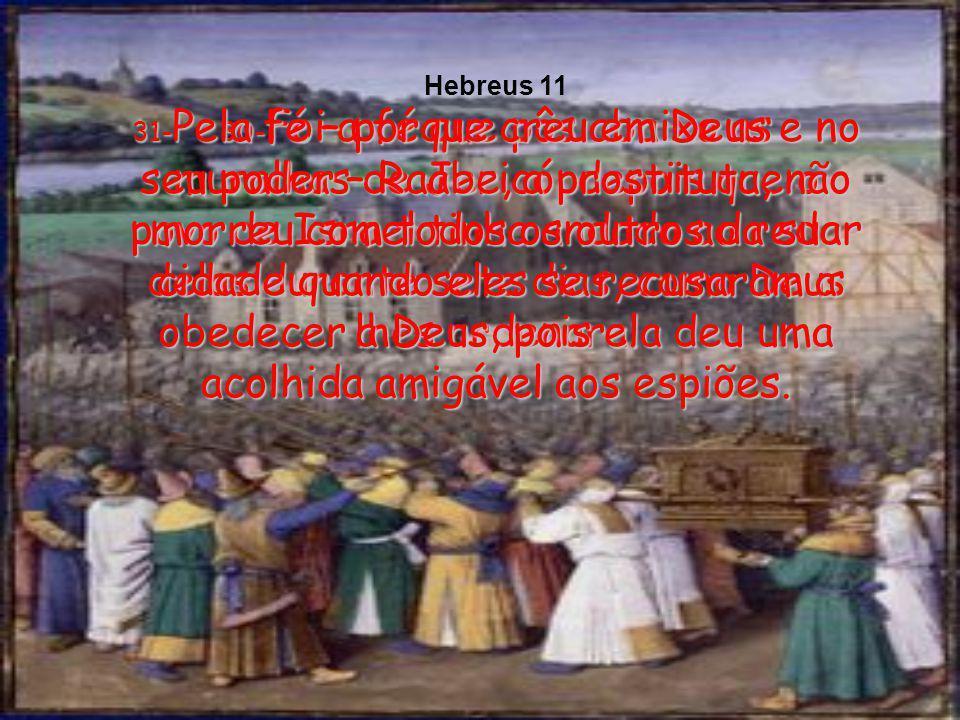 29-O povo de Israel confiou em Deus e atravessou o Mar Vermelho, como se estivesse na terra seca. Mas, quando os egípcios procuraram fazer o mesmo, af