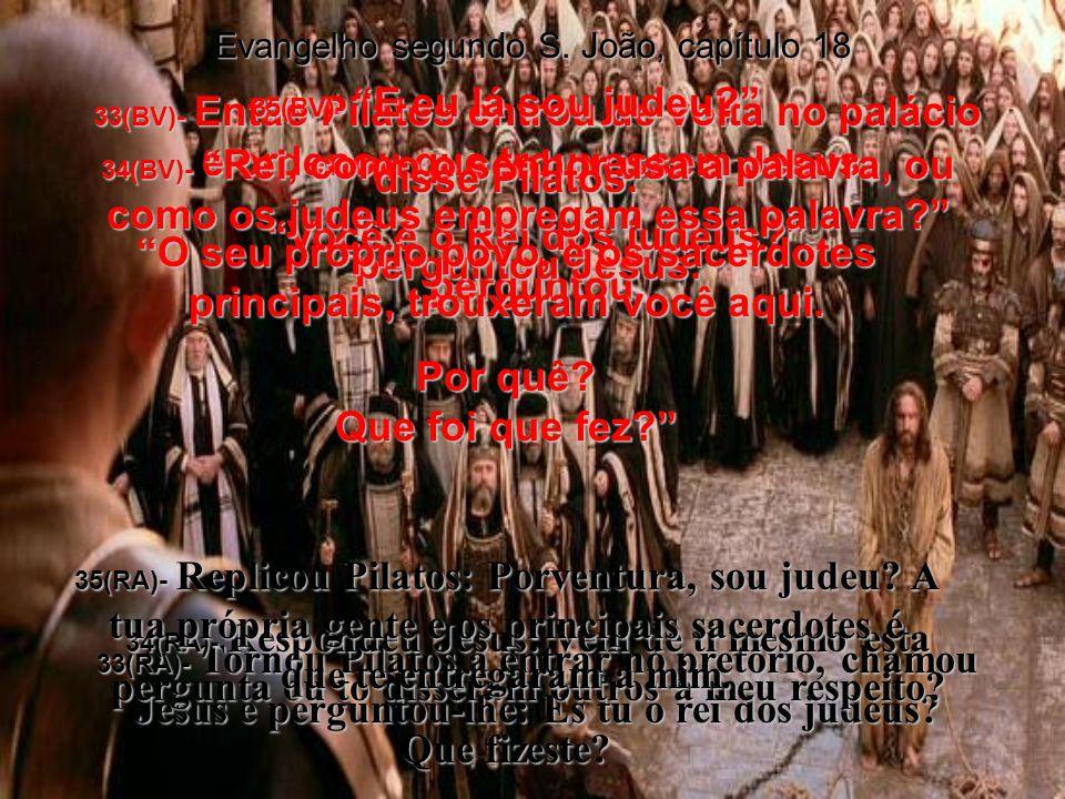 31(BV)- Então levem o acusado para ser julgado por vocês mesmos, pelas suas leis, disse Pilatos.