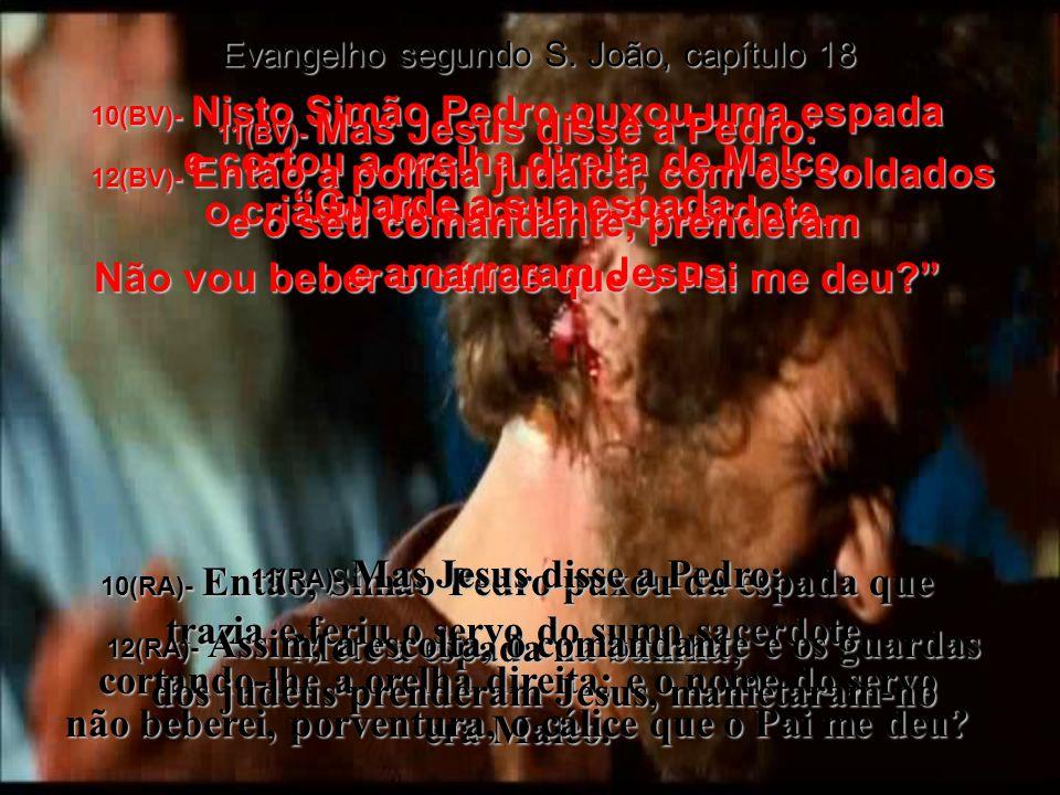 33(BV)- Então Pilatos entrou de volta no palácio e ordenou que trouxessem Jesus.
