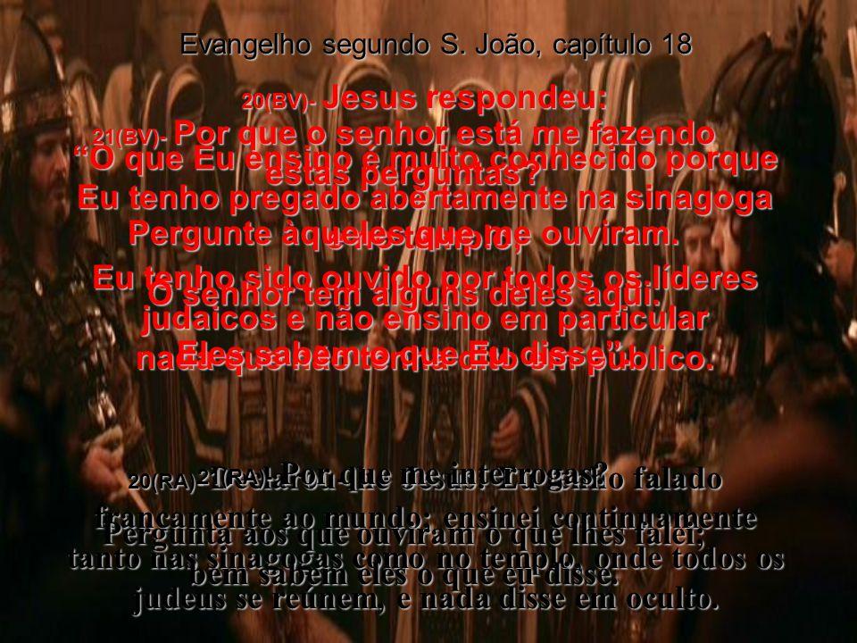 18(BV)- Os policiais e os criados achavam-se ao redor de uma fogueira que tinham feito, porque fazia frio, e Pedro achava-se ali com eles, esquentando-se.