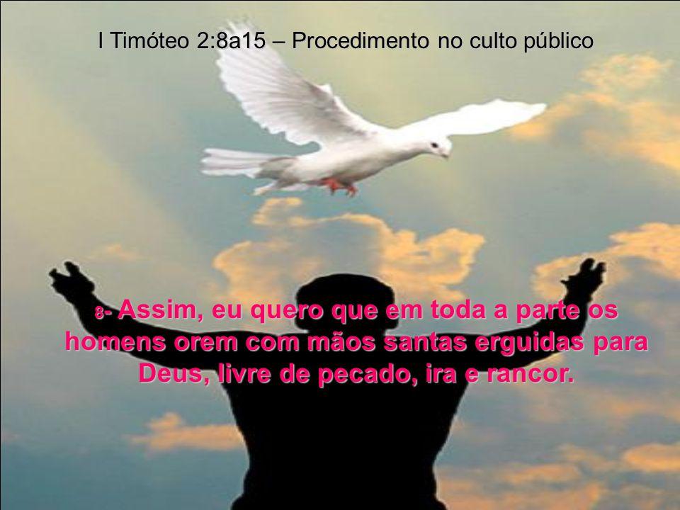 1- Estas são as minhas instruções: ore muito pelos outros; suplique a misericórdia de Deus sobre eles; dê graças por tudo quanto Ele fizer por eles. I