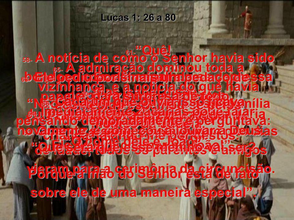 41- Ao soar a saudação de Maria, a criança de Isabel saltou dentro dela, e ela ficou cheia do Espírito Santo. 42- Isabel deu um grito de alegria e exc