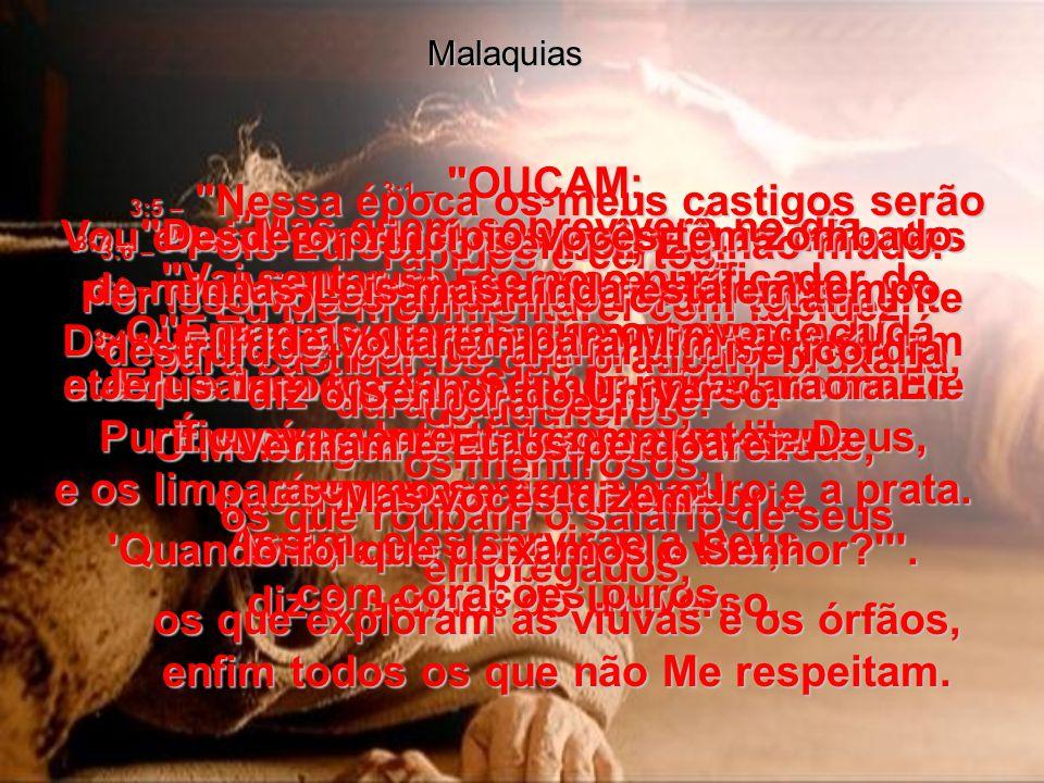 MALAQUIAS, capítulo 3 MALAQUIAS, capítulo 3