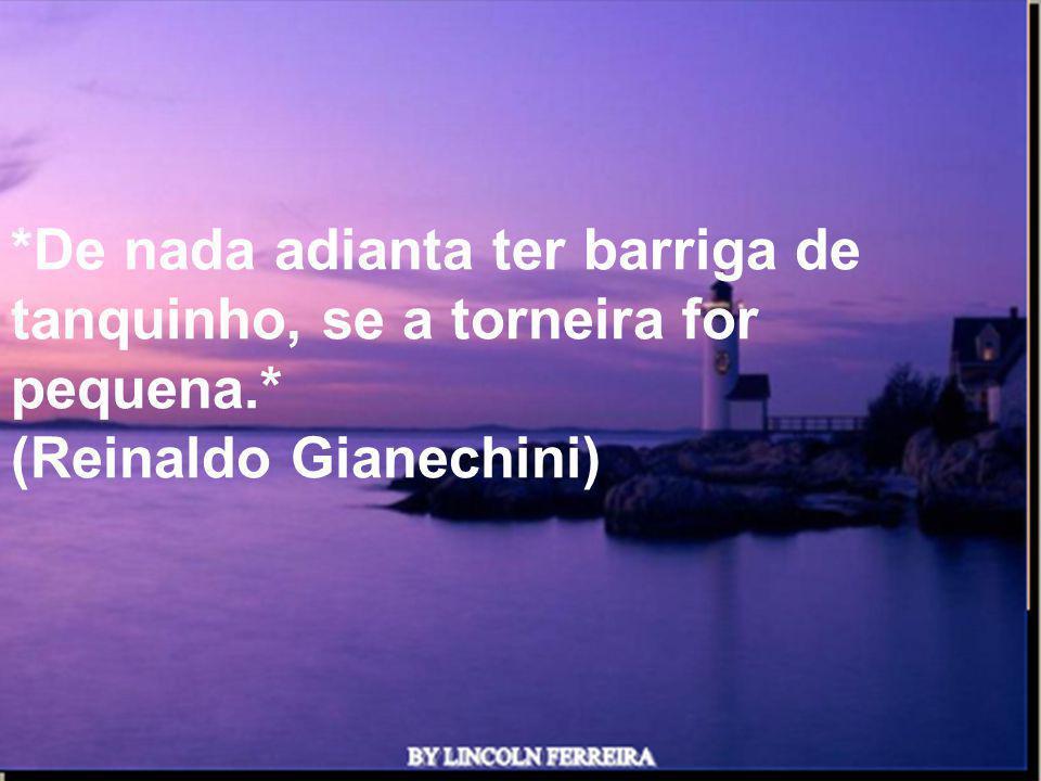 Ria Slides *De nada adianta ter barriga de tanquinho, se a torneira for pequena.* (Reinaldo Gianechini)