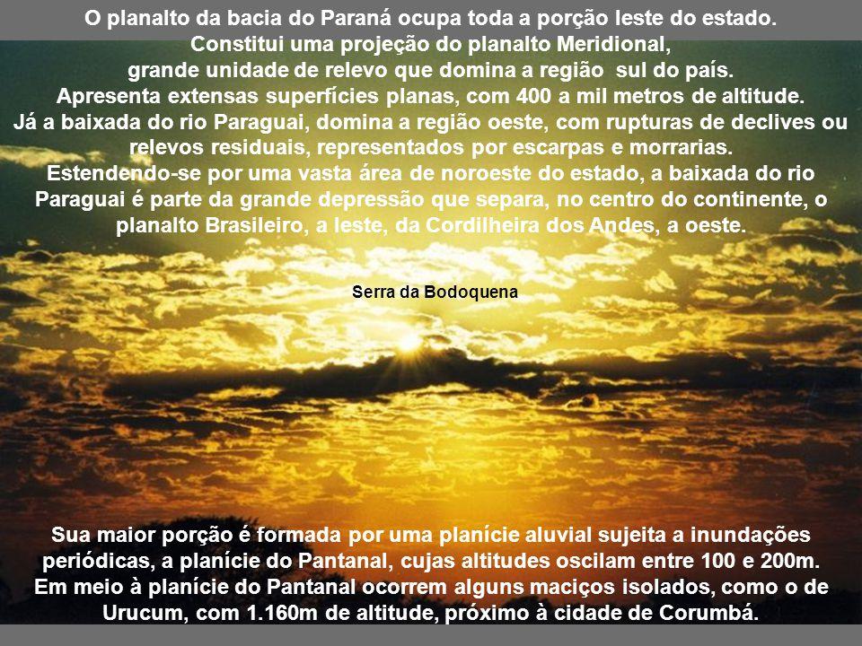 Serra de Maracaju Relevo O arcabouço geológico do Mato Grosso do Sul é formado por três unidades geotectônicas distintas: a plataforma amazônica, o ci