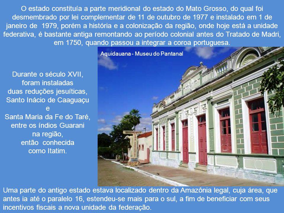Trecho do rio da Prata em Jardim O Mato Grosso do Sul é um estado da região Centro-Oeste do Brasil e é o 6º estado do Brasil em área, com 358.158 km²