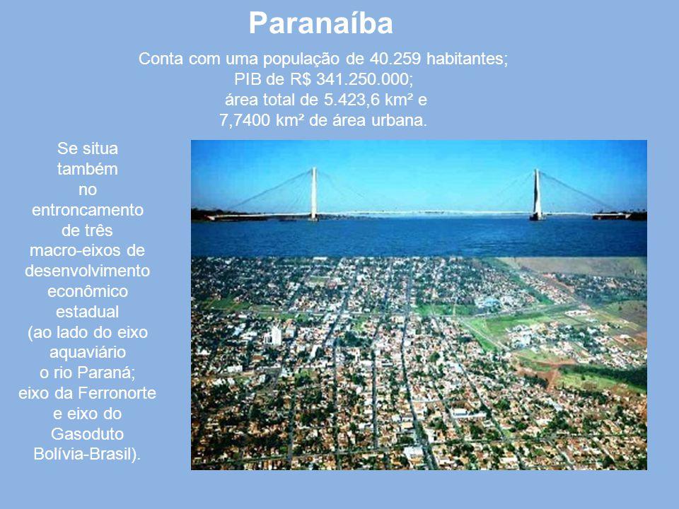 Paranaíba É o portal do nordeste de Mato Grosso do Sul e famosa pela ponte metálica. O território foi primitivamente povoado pelos índios Caiapós, tor