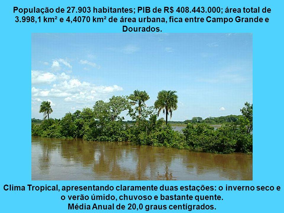 Rio Brilhante O município tem sua história ligada à República Paraguaia. Seu primeiro morador foi o mineiro Antônio Gonçalves Barbosa, que chegou em 1