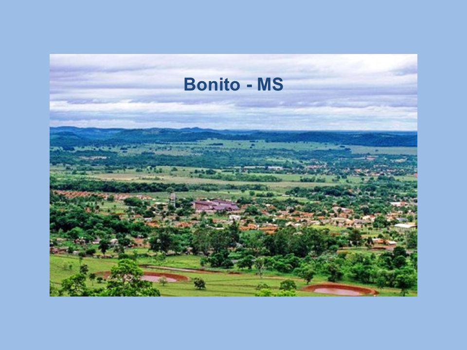 Serra da Bodoquena: Onde se localiza Bonito, uma cidade pequena que possui solo calcário é responsável pela cristalinidade dos rios. Região conhecida