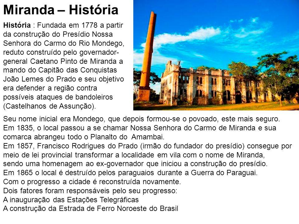 População: 24.838 hab.(IBGE 2009) Densidade 4,2 hab./km² Mesorregião:Pantanais Sul-Mato- Grossenses Microrregião: Aquidauana Municípios limítrofes: B