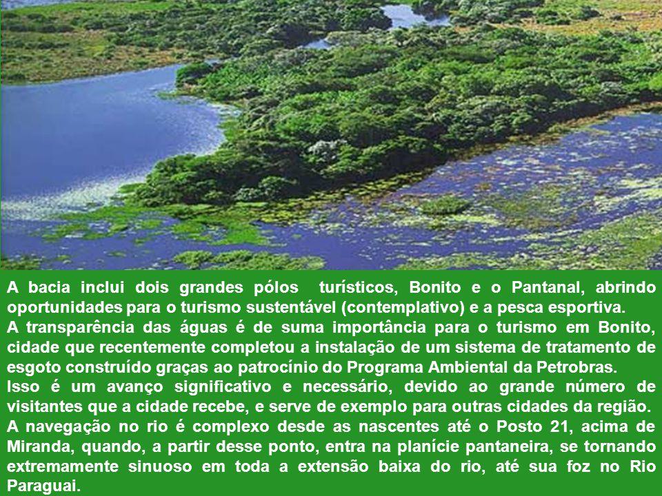 Miranda – Pantanal – Pesca - O Rio Miranda Afluente da margem esquerda do Paraguai, é inserido na região do Pantanal. O rio é formado no encontro do C