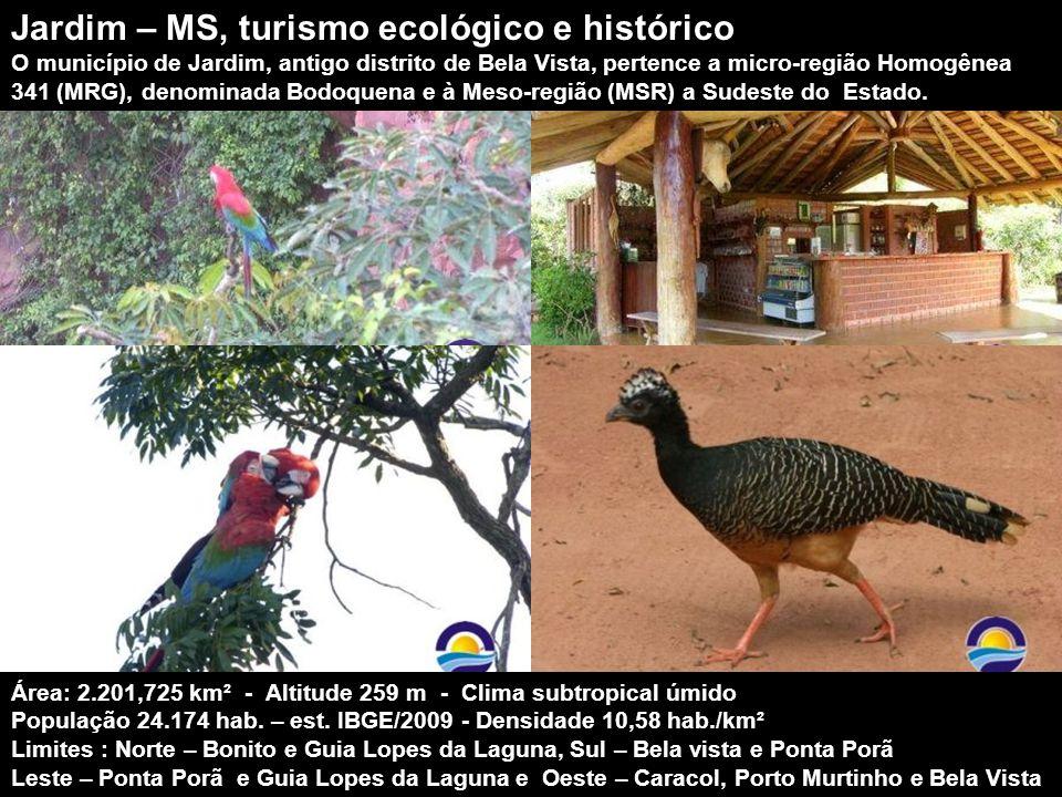 É um dos municípios que integram o complexo turístico do Parque Nacional da Serra da Bodoquena. Devido à diversidade de ecossistemas e ao elevado níve