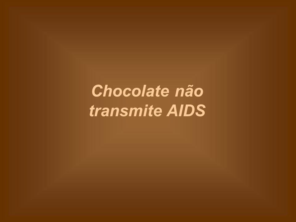 Você pode comer chocolate à vontade, que nunca vai engravidar