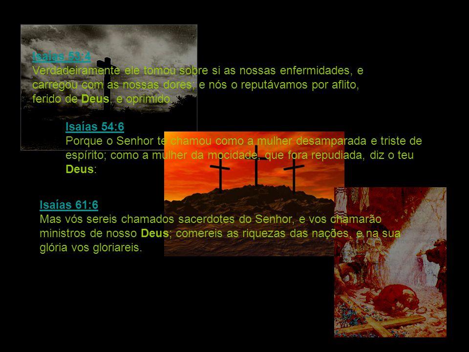 Isaías 53:4 Isaías 53:4 Verdadeiramente ele tomou sobre si as nossas enfermidades, e carregou com as nossas dores; e nós o reputávamos por aflito, fer