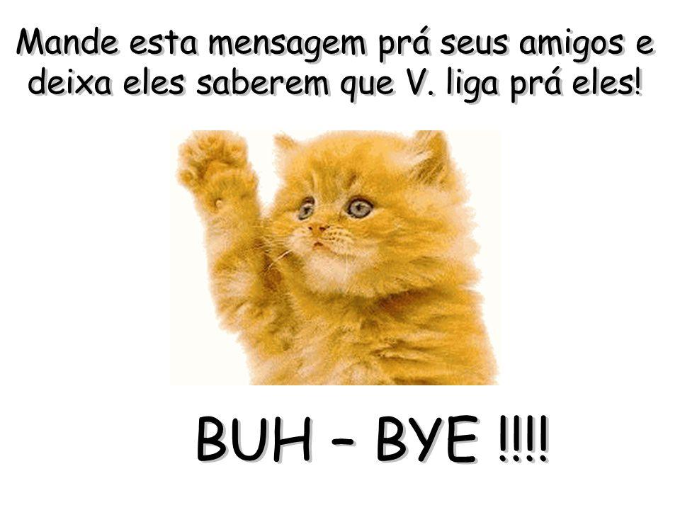 Mande esta mensagem prá seus amigos e deixa eles saberem que V. liga prá eles! BUH – BYE !!!!