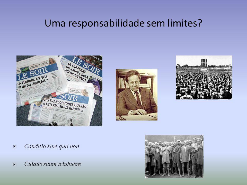 Uma responsabilidade sem limites? Conditio sine qua non Cuique suum triubuere