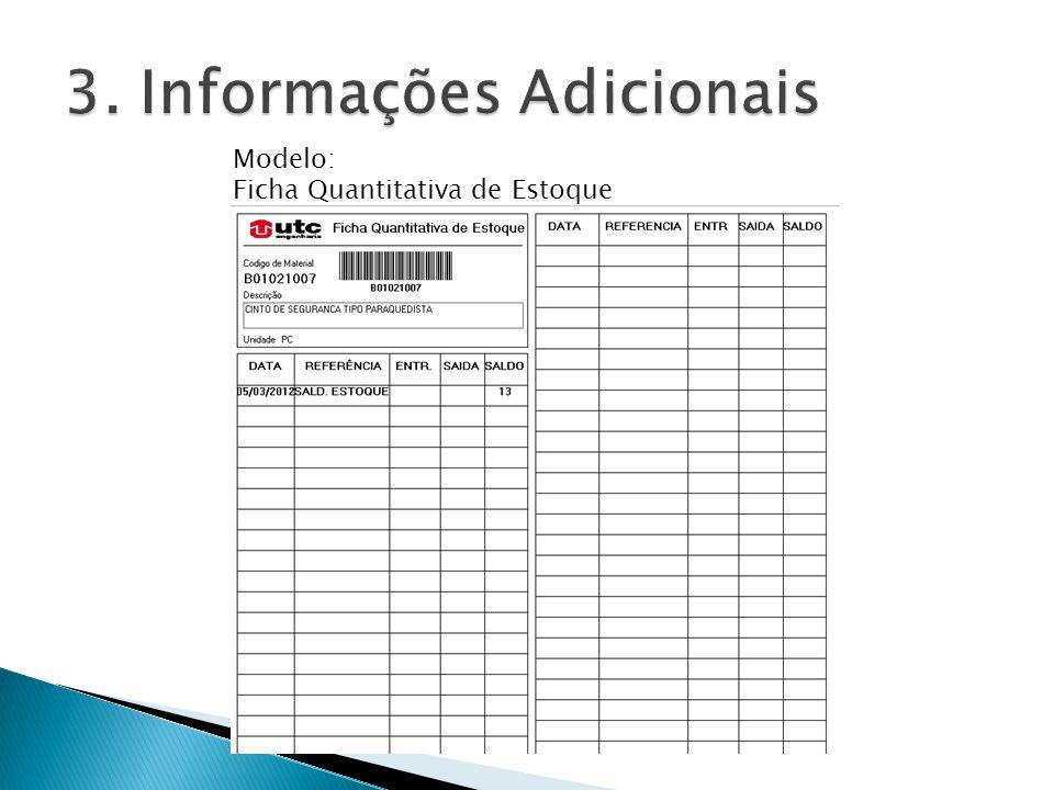 Modelo: Ficha Quantitativa de Estoque