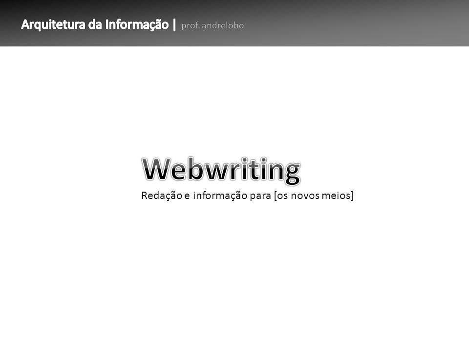 1.O que é webwriting.