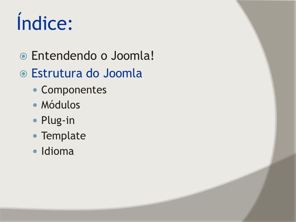 Estrutura do Joomla! Front End (Pagina de visualização)