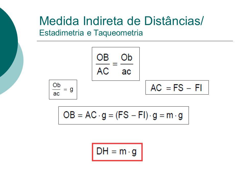 Medida Eletrônica de Distâncias 3. Medida eletrônica de distâncias: Instrumentos: Estações totais: