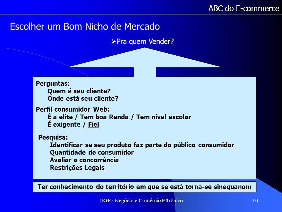 UGF - Negócio e Comércio Eltrônico10 ABC do E-commerce Pra quem Vender.