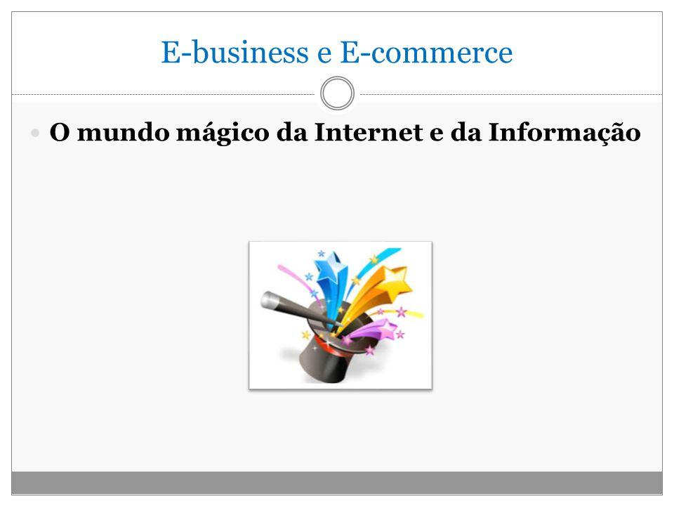 E-business e E-commerce O mundo mágico da Internet e da Informação