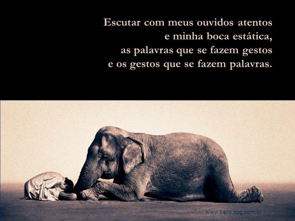 Ver nos olhos de quem me vê a admiração que eles me têm e não a inveja que prepotentemente penso que têm. www.bero.xpg.com.br