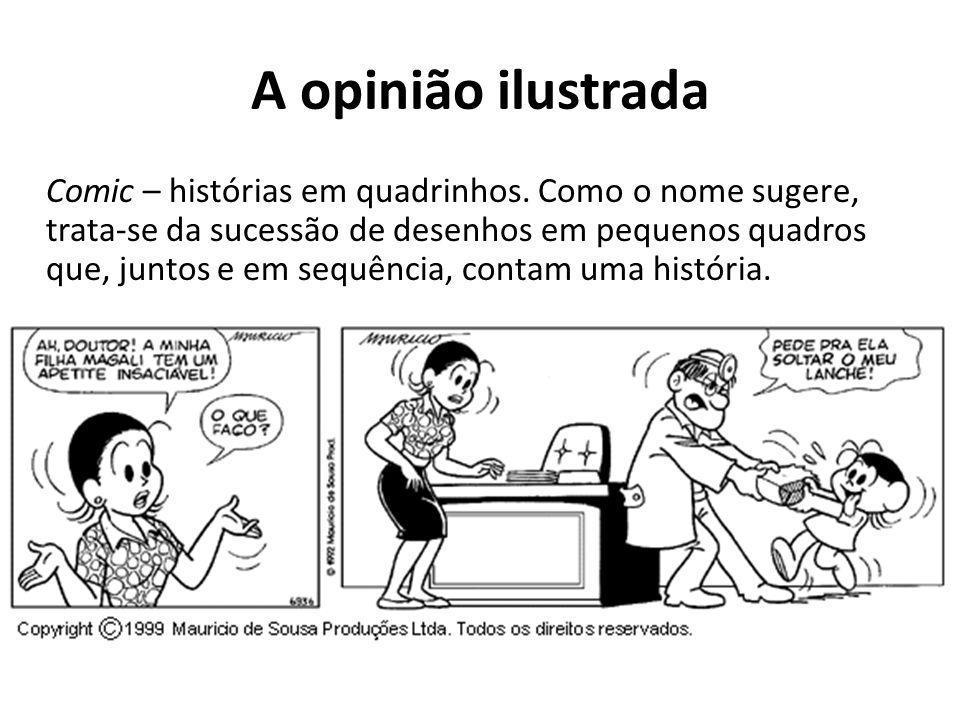A opinião ilustrada Comic – histórias em quadrinhos.