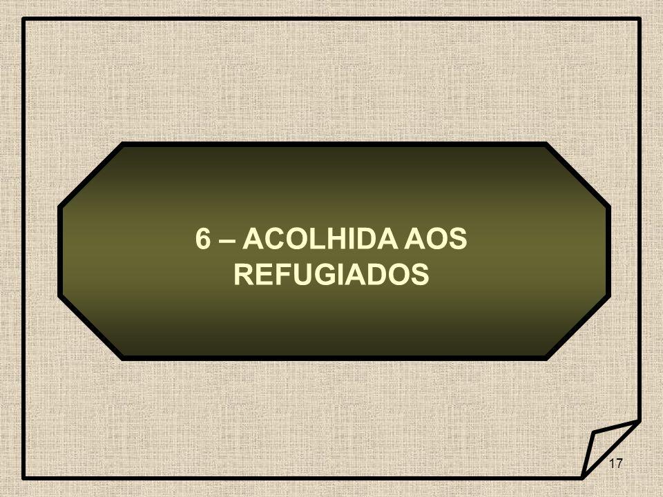 17 6 – ACOLHIDA AOS REFUGIADOS