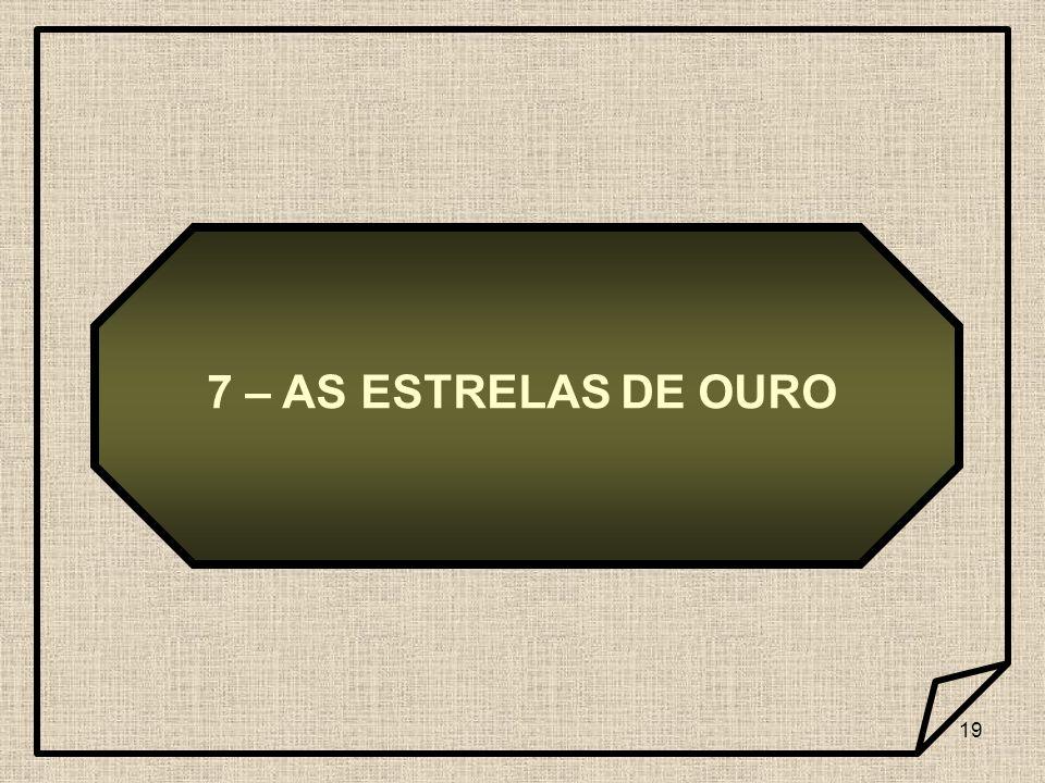 19 7 – AS ESTRELAS DE OURO
