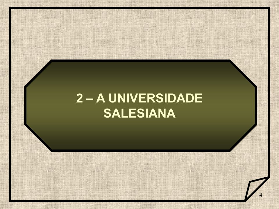 4 2 – A UNIVERSIDADE SALESIANA