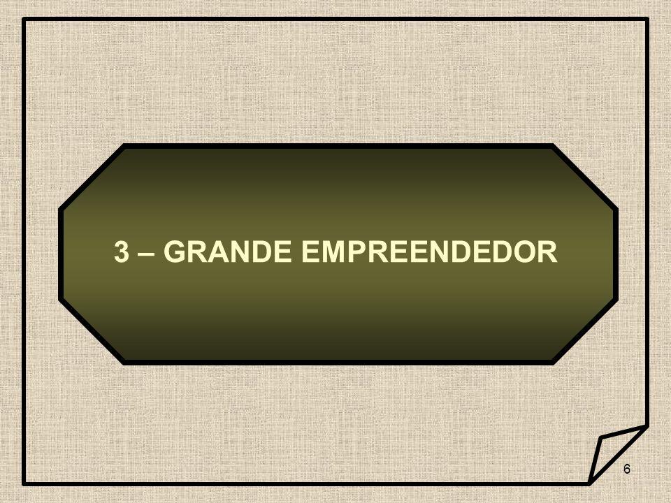 6 3 – GRANDE EMPREENDEDOR