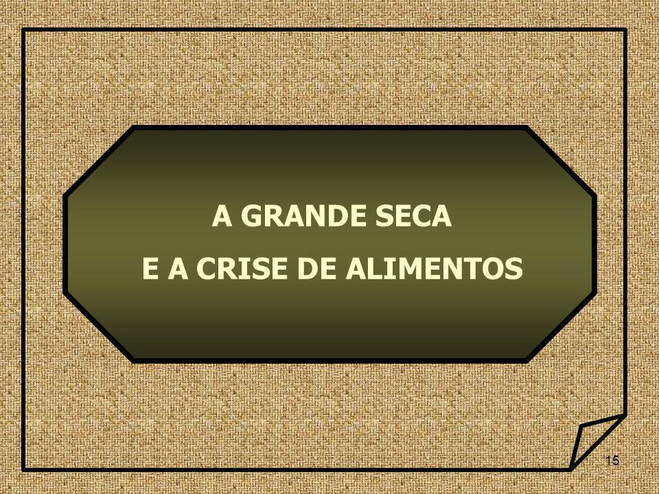 15 A GRANDE SECA E A CRISE DE ALIMENTOS