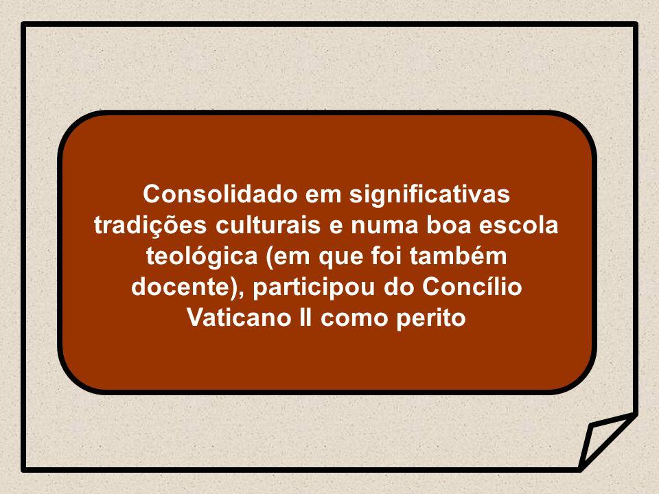 No Concílio contribuiu com o rigor científico e também com as experiências pastorais e educativas vividas na América Latina.