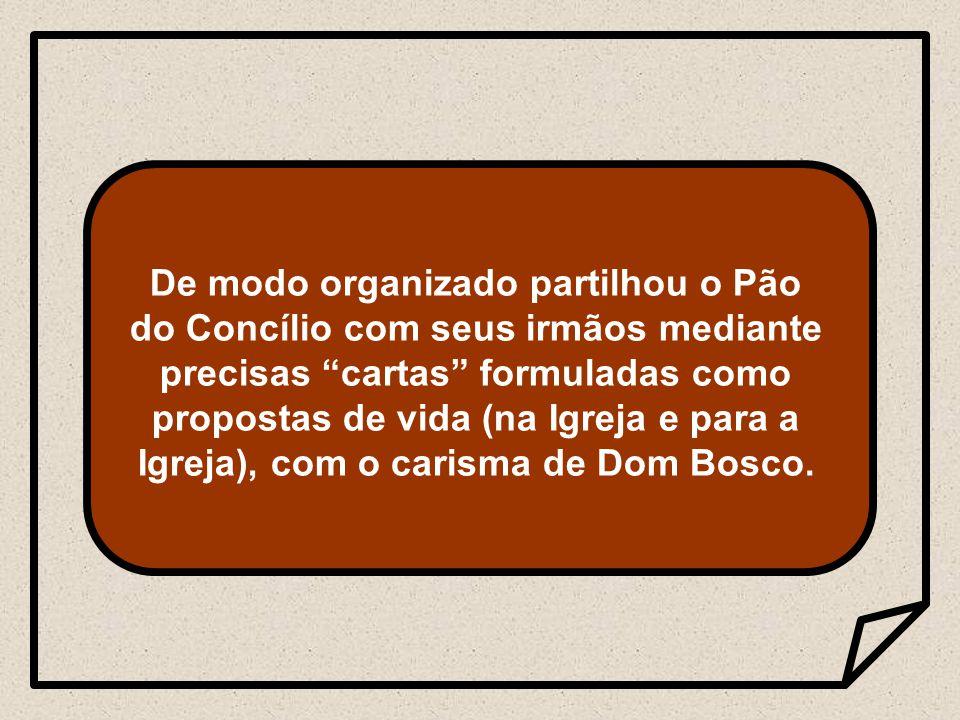 R 1 Em 1983, Dom Viganó participou dos diálogos dos superiores gerais com o Papa, sobre os problemas e as perspectivas da Vida Religiosa na Igreja.