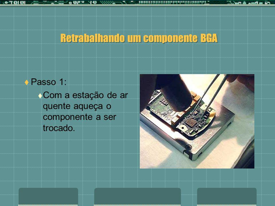 Introdução: Utilizando uma estação de retrabalho em BGA de baixo custo, será mostrado passo a passo todo o processo para o reparo de um componente BGA