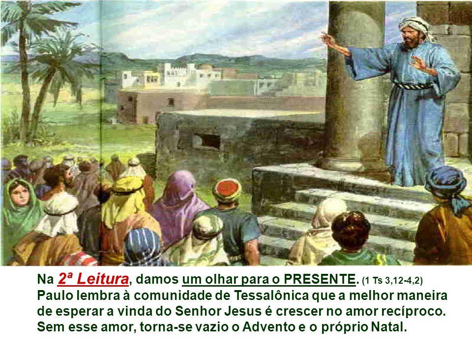 Recordando as promessas de Deus, o profeta elimina a saudade do passado, elimina o medo do presente e instaura o clima da ESPERANÇA. * Esse rebento es
