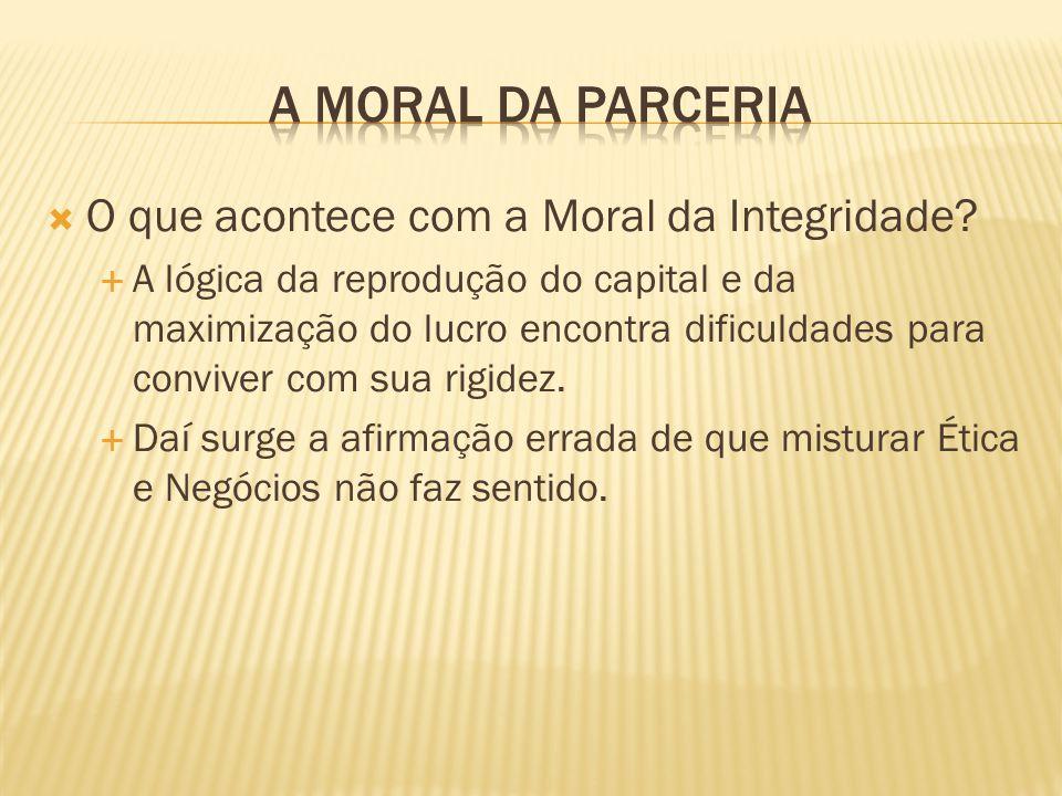 O que acontece com a Moral da Integridade? A lógica da reprodução do capital e da maximização do lucro encontra dificuldades para conviver com sua rig