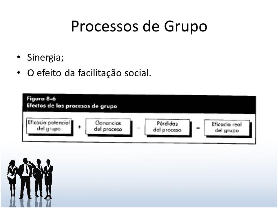 Processos de Grupo Sinergia; O efeito da facilitação social.