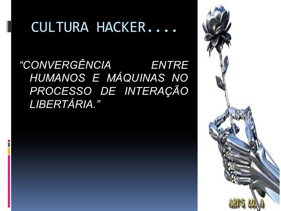 CULTURA HACKER.... CONVERGÊNCIA ENTRE HUMANOS E MÁQUINAS NO PROCESSO DE INTERAÇÃO LIBERTÁRIA.