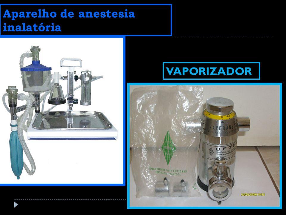 Aparelho de anestesia inalatória VAPORIZADOR