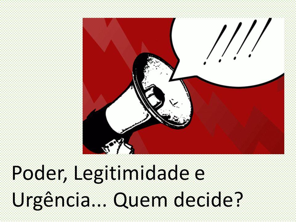 Poder, Legitimidade e Urgência... Quem decide?