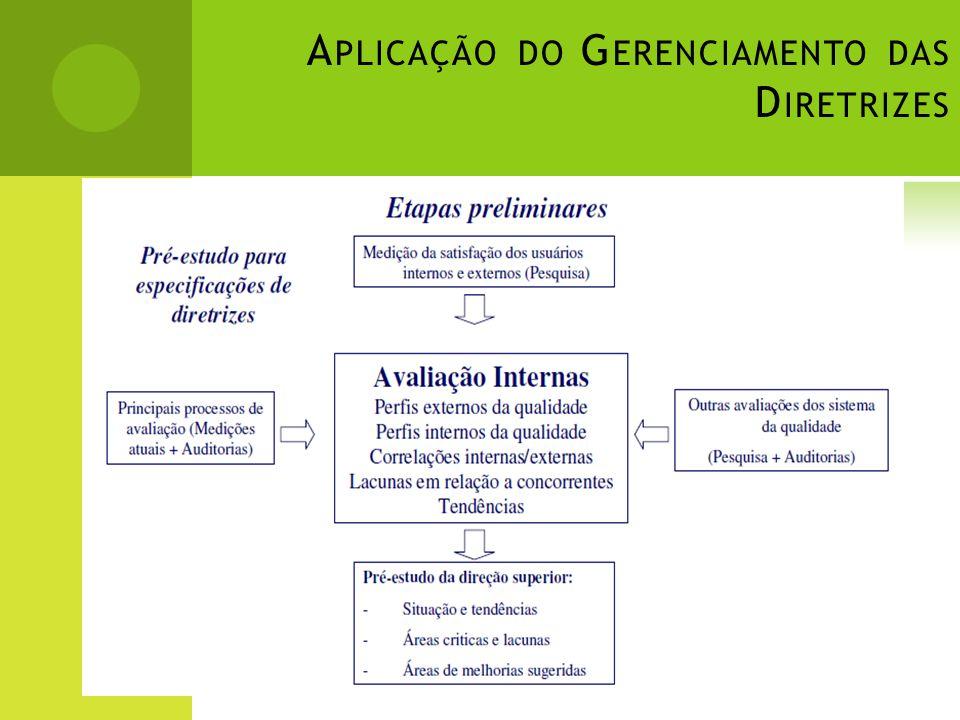 A PLICAÇÃO DO G ERENCIAMENTO DAS D IRETRIZES