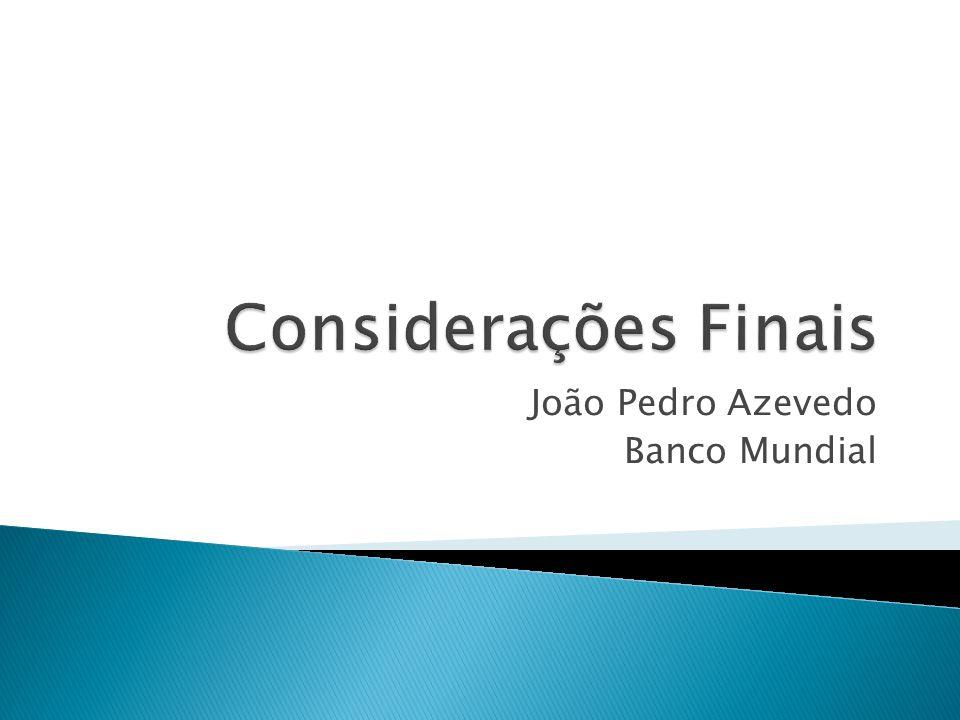 João Pedro Azevedo Banco Mundial