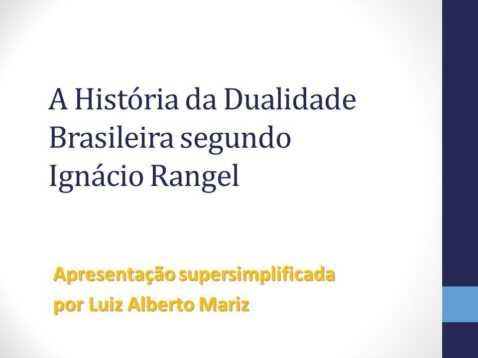A História da Dualidade Brasileira segundo Ignácio Rangel Apresentação supersimplificada por Luiz Alberto Mariz