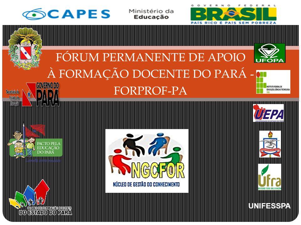 UNIFESSPA FÓRUM PERMANENTE DE APOIO À FORMAÇÃO DOCENTE DO PARÁ - FORPROF-PA