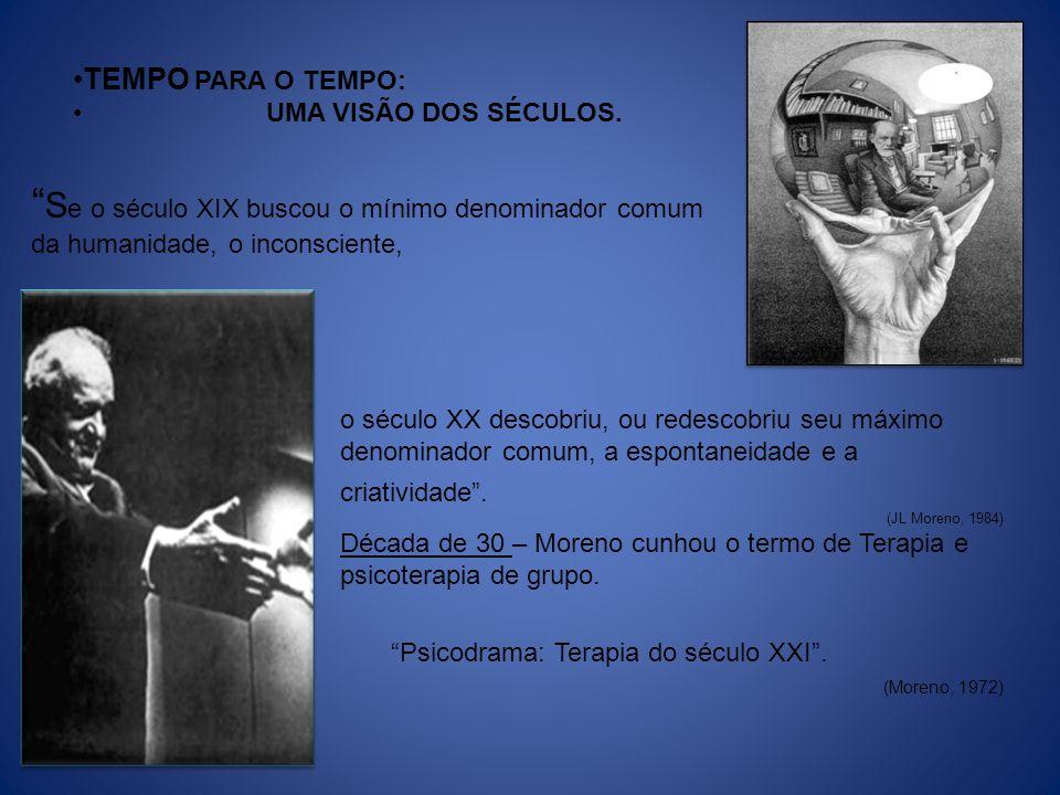 JL MORENO Proclamou que, embora suas idéias pudessem ser prematuras para o século XX, o século seguinte seria seu.