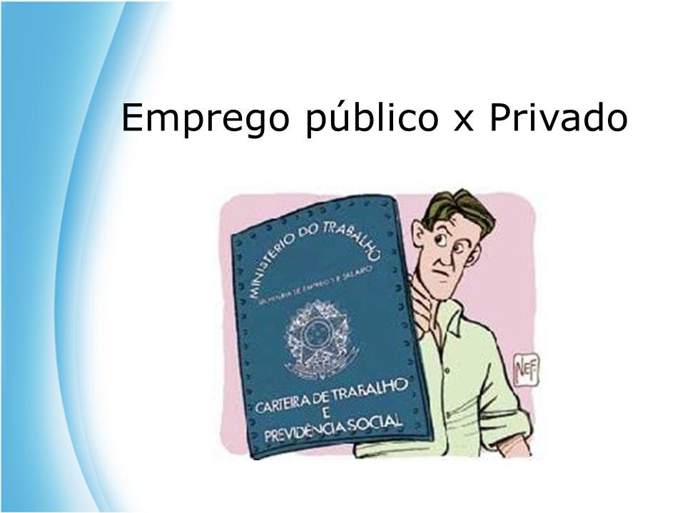 Emprego público x Privado